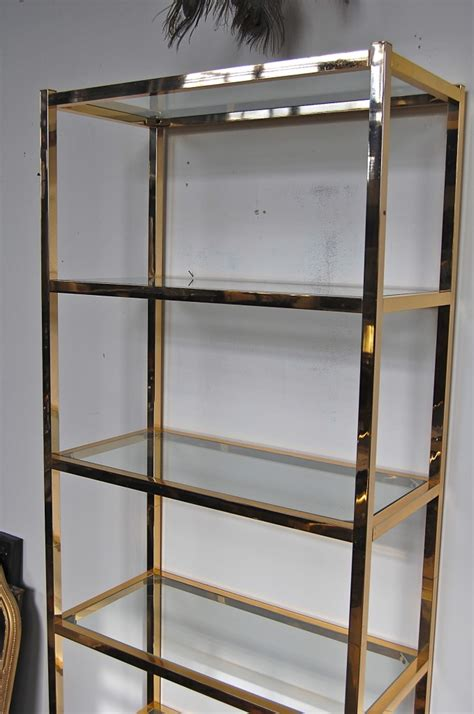 Etagere Shelf by Vintage Modern Brass Etagere Shelf The Savoy Flea