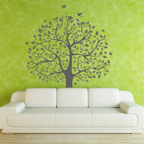 tree wall decals children nature green tree wall mural nursery wall decal wall s