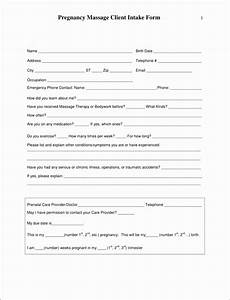 eco form template - 5 massage therapy intake form template templatesz234