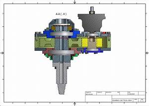 Drilling Rig Gearbox Section View