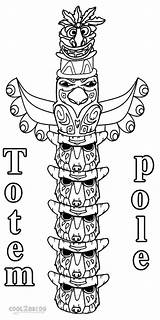 Coloring Totem Pole Printable Alaska Sheet Poles Template Templates Native Apache Cool2bkids Children Totems Adults sketch template