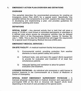 emergency action plan template 8 free sample example With event safety plan template
