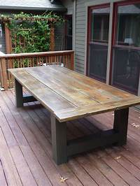 fine patio side table plans How To Build A Outdoor Dining Table Building an outdoor dining table during the winter is great ...