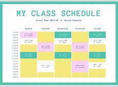 Diseña horarios de clase gratis y online con Canva