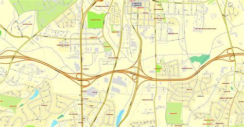 raleigh map north carolina  vector map adobe