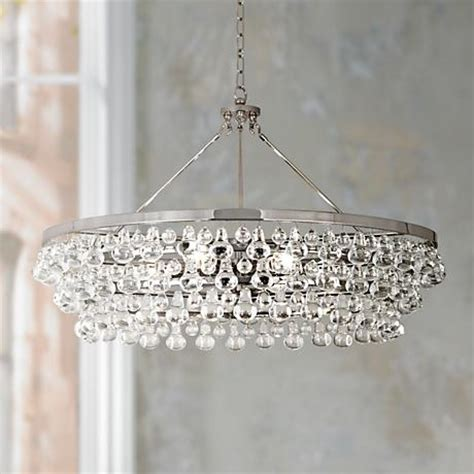 robert bling collection large nickel chandelier