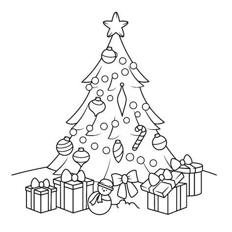 Kleurplaat Kerstboom Met Pakjes by Kleurplaat Kerstboom Met Cadeautjes Kleurplaatje Nl
