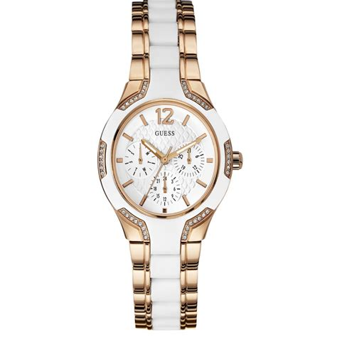 Guess 20563 Gold White w0556l3 gold and white s chronograph