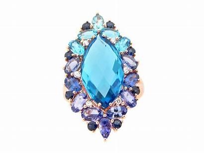 Tanzanite Diamond Topaz Dilamani Marquis Sapphire Ring