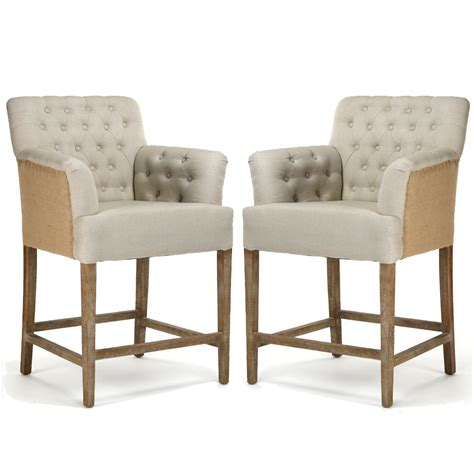 tufted jute counter stools two tone upholstery