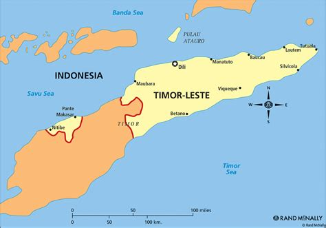 Timor Leste Position On The Map