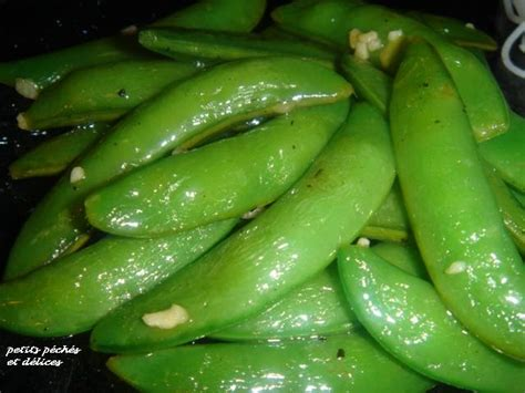 cuisiner pois gourmands petits péchés et délices pois gourmands sucrés à l 39 ail