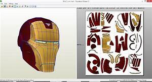 Marvel Vs Capcom 3-iron man helmet papercraft PDO by ART ...