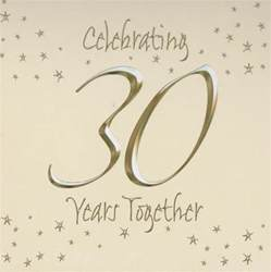 30th wedding invitations in packs of 6 wizard - 30th Wedding Anniversary