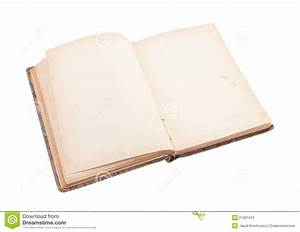 Open Old Blank Book Stock Photos - Image: 21661413