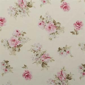 Vintage Chintz Floral Print Retro Shabby 100% Cotton ...