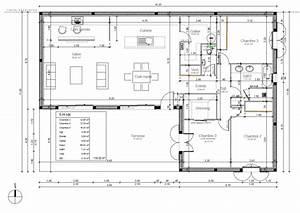 Implantation Salle De Bain : avis plan de maison de 118m pour am nagement salle de ~ Dailycaller-alerts.com Idées de Décoration