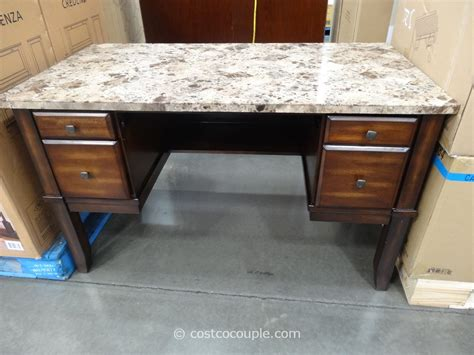 desks at costco divino marble top writing desk