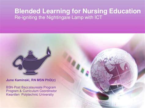 Blended Learning For Nursing Education