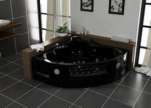 Baignoire Noire Balneo Maison Design