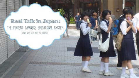 real talk  japan flaws  japans education system