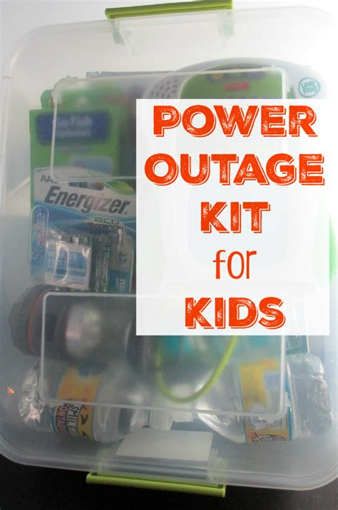 power outage kit  kids  shirley journey