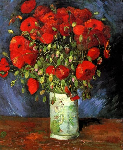 Vase With Poppies Vincent Gogh vase with poppies 1886 vincent gogh wikiart org