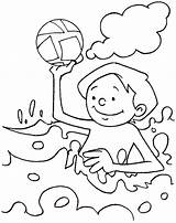 Coloring Pages Water Beach Playing Summer Printable Park Sea Drawing Conservation Clip Play Clipart Toddlers Holiday Books Waterfalls Slide Fountain sketch template