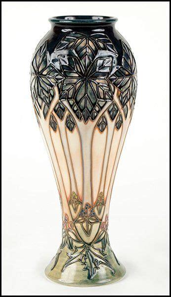 moorcroft pottery cluny pattern vase  artful