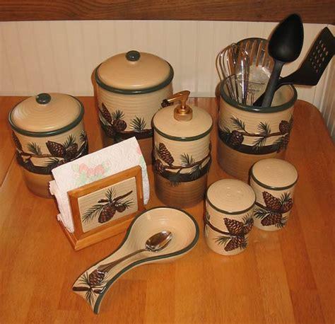 pinecone kitchen accessories rustic picture 1496