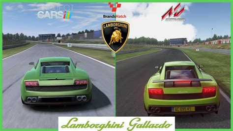 comparatif si鑒es auto assetto corsa vs project cars lamborghini gallardo mod at brands hatch