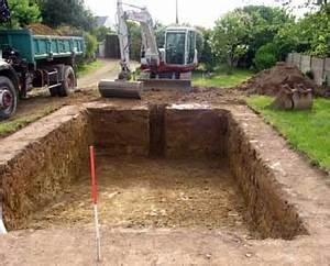 terrassement piscine premier jalon de la construction d With comment faire terrassement pour parking