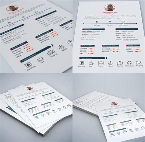 web and graphic designer resume free psd print ready