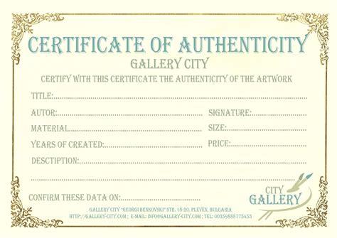 certificate authenticity template art authenticity