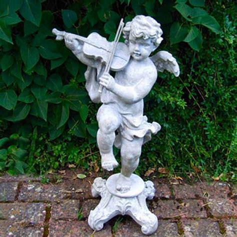 cherub garden statues cherub violin garden statues