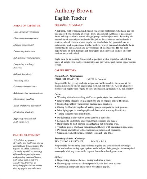 resume 9 free sle exle format free
