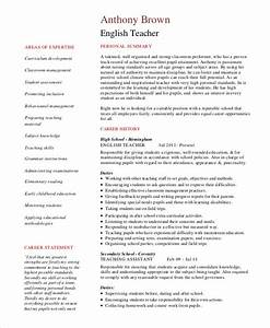 teacher resume 9 free sample example format free With english teacher resume template