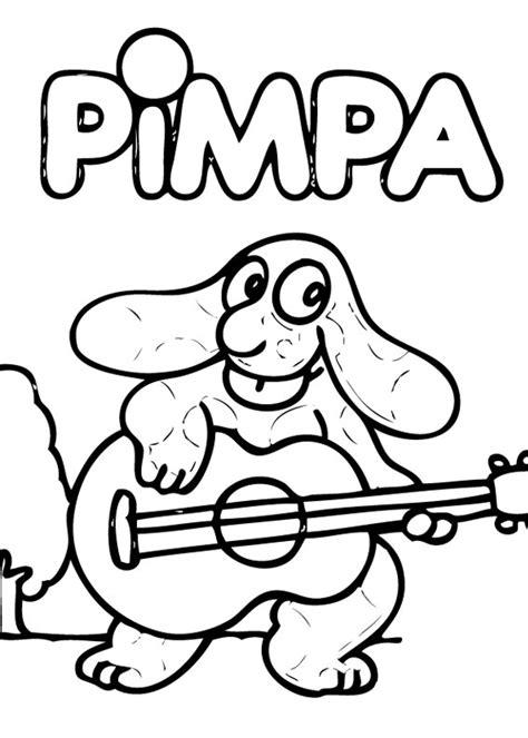 la pima suona la chitarra disegno da colorare  bambini