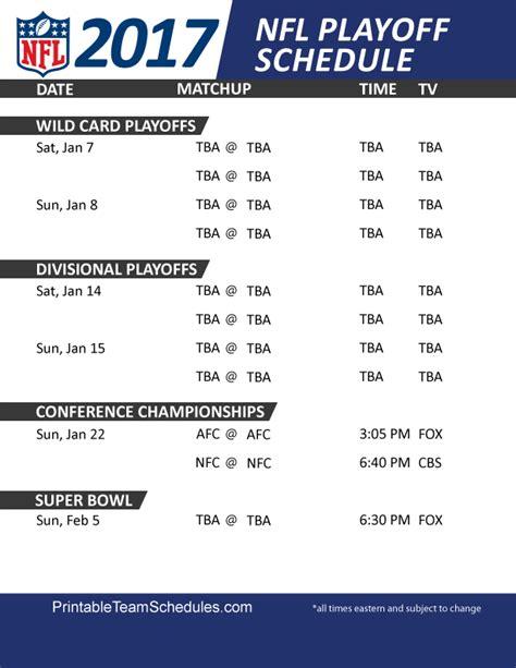 nfl playoff schedules sports playoff schedule