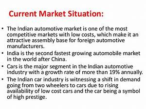 Swot analysis of automobile industry in India