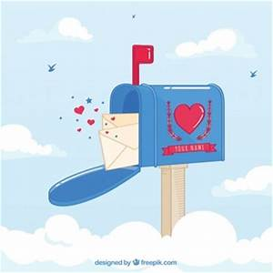 letter vectors photos and psd files free download With love letters mailbox