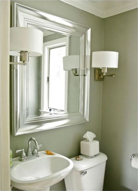 Bathroom Mirror Sconces by Brushed Nickel Bathroom Mirror As Sweet Wall Decoration