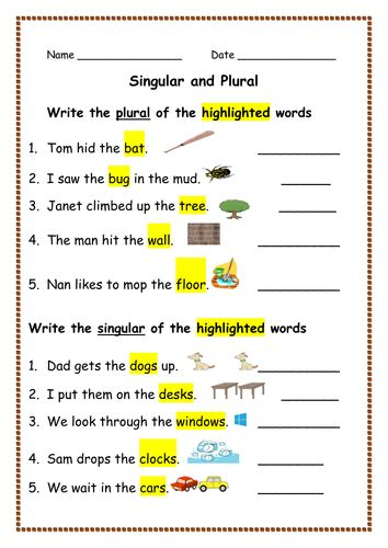 spellings singular nouns into plurals and vice versa