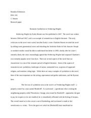 mwds wuthering heights ap major works data sheet title wuthering