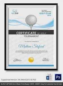 Golf Certificate Template Free 5 Golf Certificates PSD Word Designs Design Trends Premium PSD Vector Downloads
