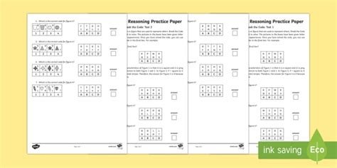 11 non verbal reasoning code breaking assessment pack