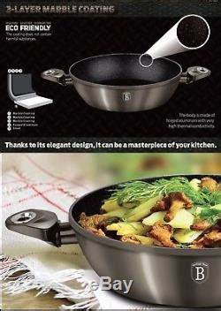 luxury pots high quality rose gold cookware set  pcs frypan utensils