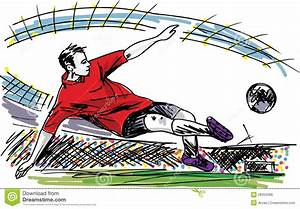 Soccer Player Kicking Ball Royalty Free Stock Image ...