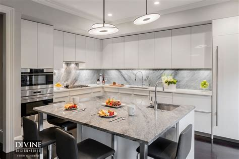 kitchen island with seating area a modern kitchen design in boston s south end
