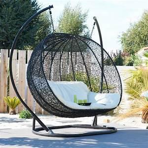 Balancelle Lit De Jardin : balancelle oeuf en osier maison design ~ Teatrodelosmanantiales.com Idées de Décoration
